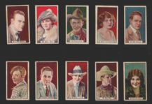 Collectible cigarette cards set  film stars movie RARE, Tom Mix etc